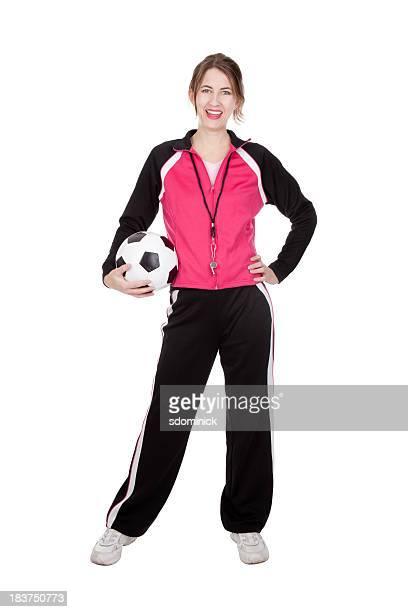 Aislado entrenador de fútbol