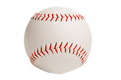 A softball isolated on a white background.