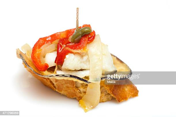 Isolated spanish appetizer