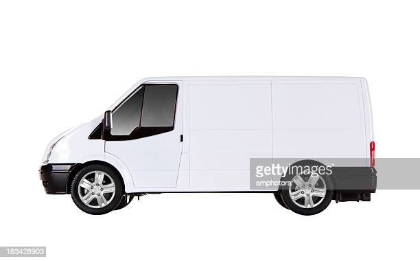 Isolated white truck