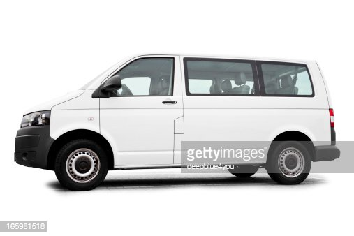 Isolated white Van / Transporter ready for branding