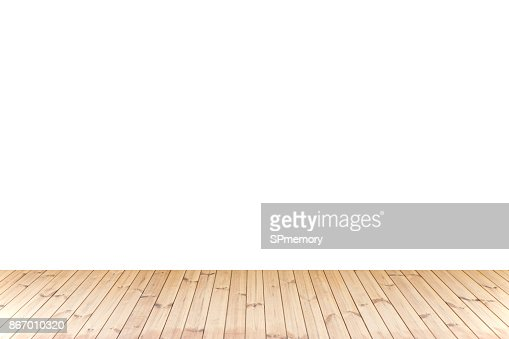 Isolated Wood floor,wood texture in light brown color on white background for copy space : Stock Photo