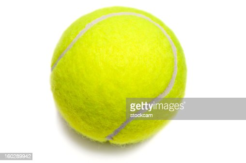 Isolated yellow tennis ball