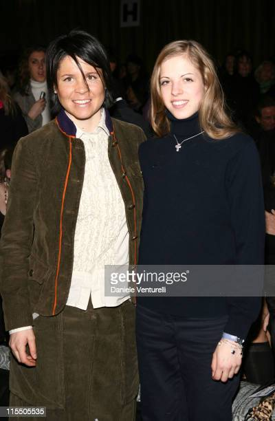 Isolde Kostner and Carolina Kostner during Milan Fashion Week Autumn/Winter 2006 Roberto Cavalli Front Row at Arco della Pace Piazza Semipione in...