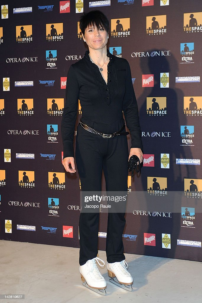 Isolde Kostner attends 'Opera On ice' - Milan Premiere on April 12, 2012 in Milan, Italy.
