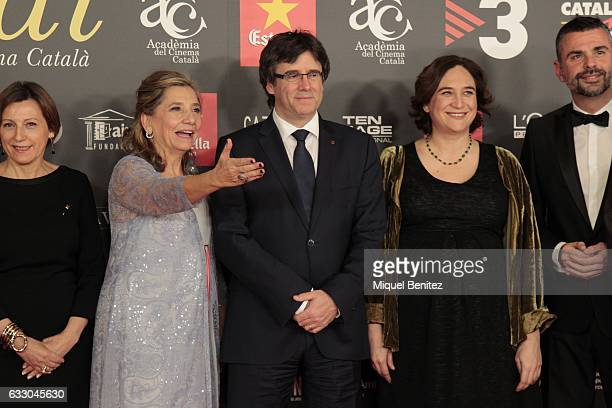 Isona Passola President of tha Generalitat of Catalonia Carles Puigdemont and Barcelona's Major Ada Colau attend the IX Gaudi Awards 2016 at the...