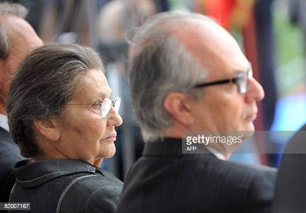 Israel Ambassador to France Daniel Shek and former Minister Simone Weil attend a ceremony to commemorate the anniversary of infamous Vel D'Hiv...