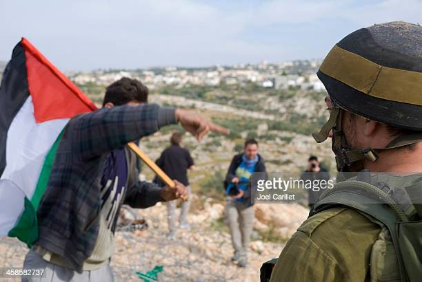 Israel and Palestine (protest in Bil'in, West Bank)
