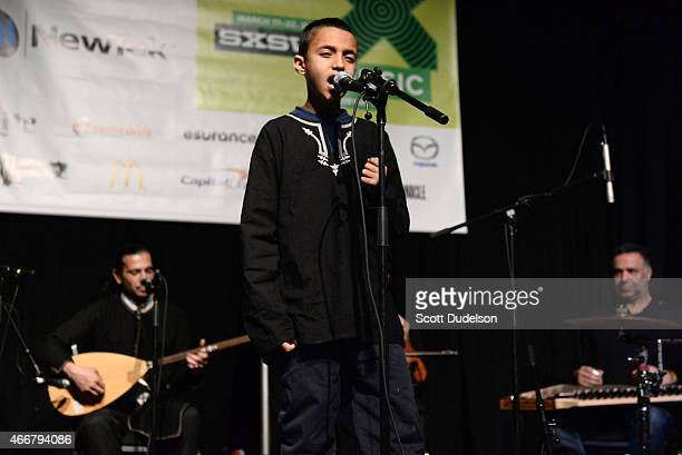 Israel based band Diwan Saz performs onstage at the Austin Convention Center's International Day Stage on March 18 2015 in Austin Texas