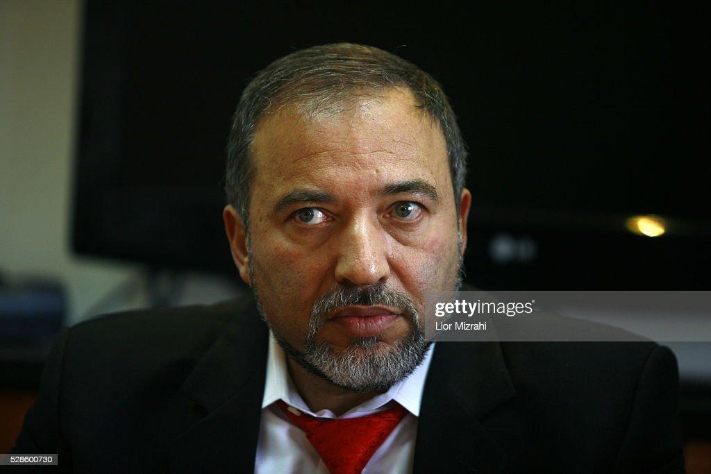 Israel Beitenu right wing Leader Avigdor Liberman is seen during a meeting on January 21, 2009 in Jerusalem, Israel.
