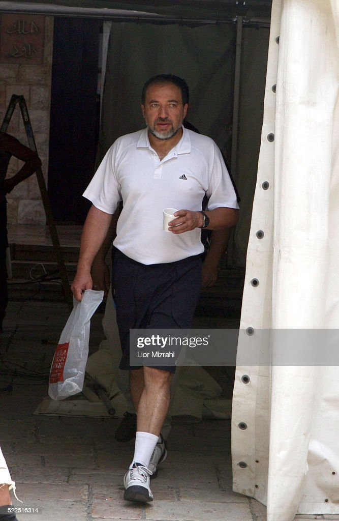Israel Beitenu right wing Leader Avigdor Liberman is seen wearing sports clothing on May 13, 2008 in Jerusalem, Israel.