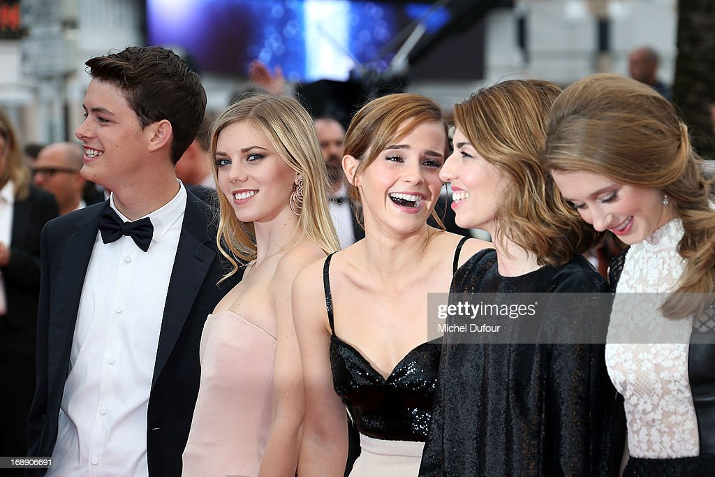 Israel Broussard,Claire Julien, <a gi-track='captionPersonalityLinkClicked' href=/galleries/search?phrase=Emma+Watson&family=editorial&specificpeople=171373 ng-click='$event.stopPropagation()'>Emma Watson</a>, Sophia Coppola and Taissa Farmiga attend the 'Jeune & Jolie' premiere during The 66th Annual Cannes Film Festival at the Palais des Festivals on May 16, 2013 in Cannes, France.