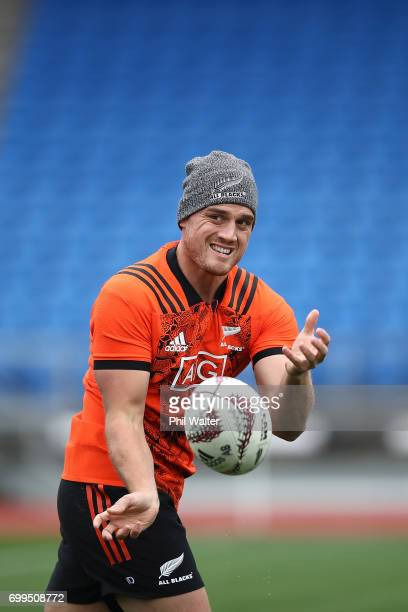 Israel Dagg of the All Blacks during a New Zealand All Blacks training session at Trusts Stadium on June 22 2017 in Auckland New Zealand