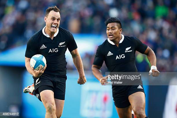 Israel Dagg of the All Blacks on the burst during the International Test Match between the United States of America and the New Zealand All Blacks at...