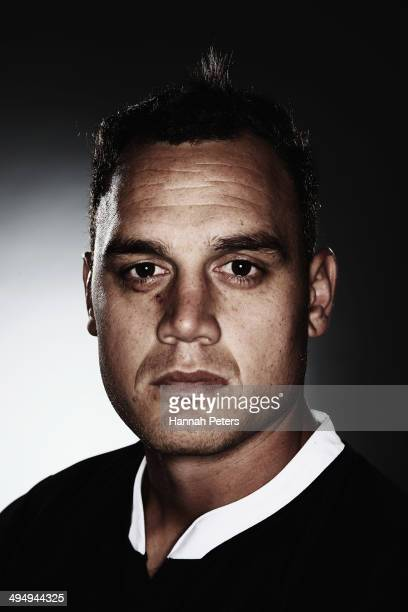 Israel Dagg of the All Blacks poses during a New Zealand All Blacks portrait session on May 26 2014 in Wellington New Zealand