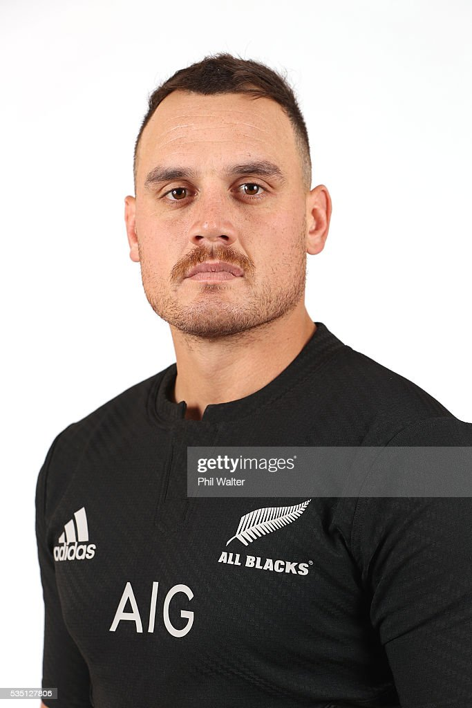 <a gi-track='captionPersonalityLinkClicked' href=/galleries/search?phrase=Israel+Dagg&family=editorial&specificpeople=2086281 ng-click='$event.stopPropagation()'>Israel Dagg</a> of the All Blacks poses for a portrait during a New Zealand All Black portrait session on May 29, 2016 in Auckland, New Zealand.