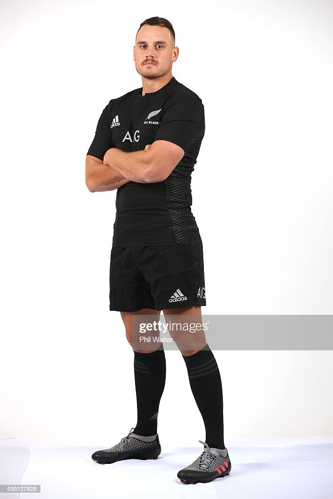 Israel Dagg of the All Blacks poses for a portrait during a New Zealand All Black portrait session on May 29, 2016 in Auckland, New Zealand.