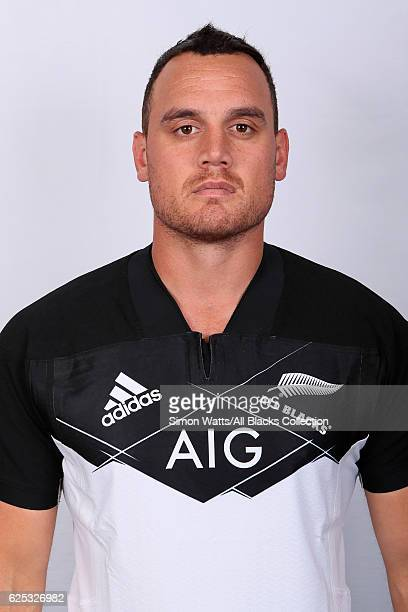 Israel Dagg poses during the All Blacks End of Year Tour 2016 Headshots Session at Auckland International Airport Novotel on October 28 2016 in...