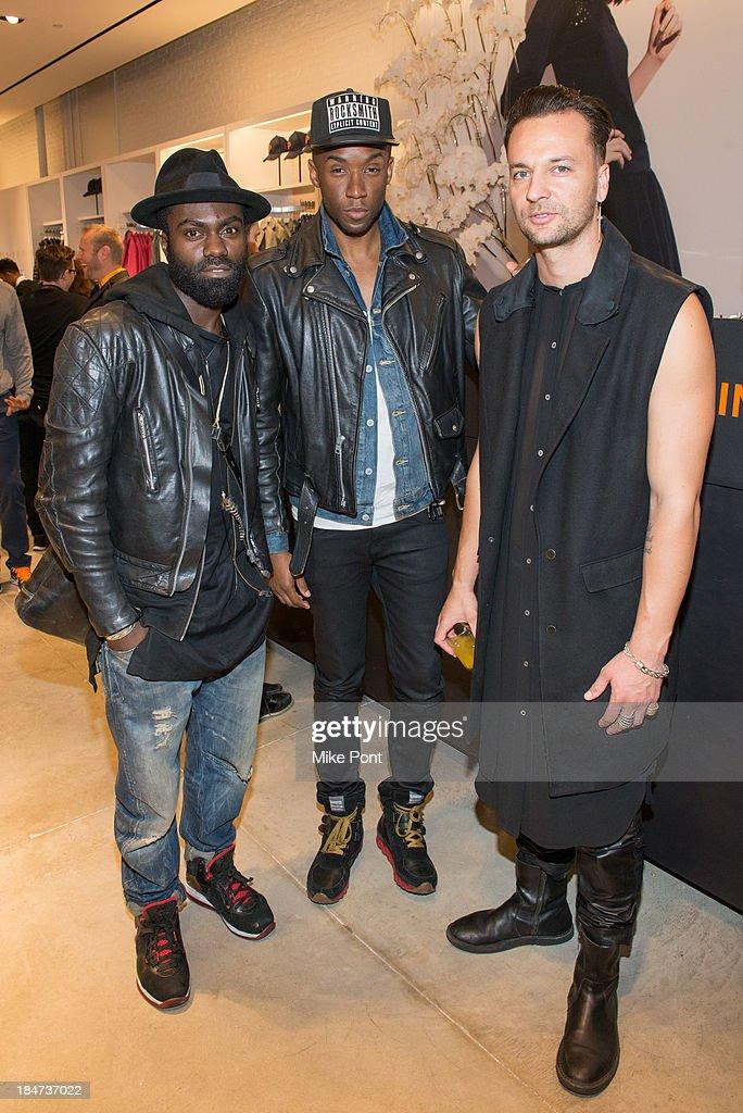 Israel David Jae Joseph and Julien Boudet attend the Joe Fresh Soho opening party at Joe Fresh Soho on October 15 2013 in New York City