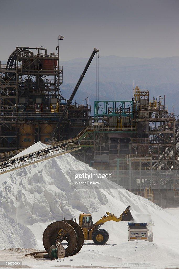 Israel, Dead Sea, Sodom, Dead Sea Works : Stock Photo