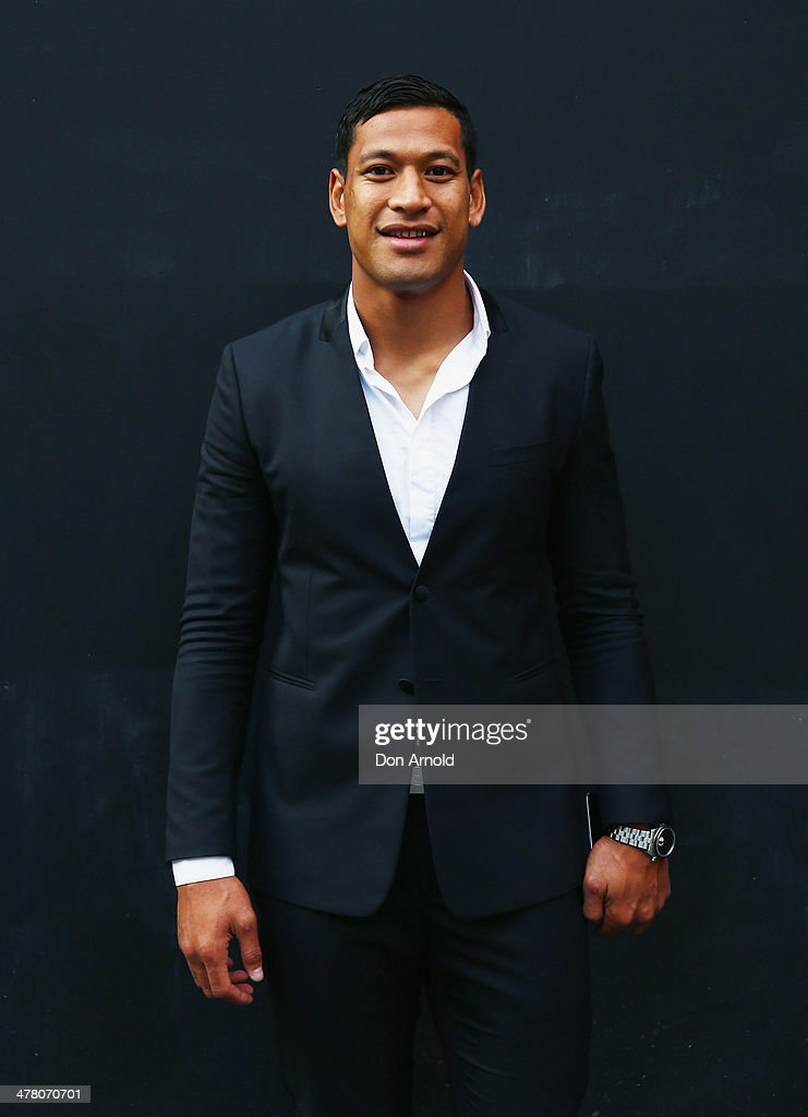 Israel Falau poses at the Foxtel Presto launch at the Ivy on March 12, 2014 in Sydney, Australia.