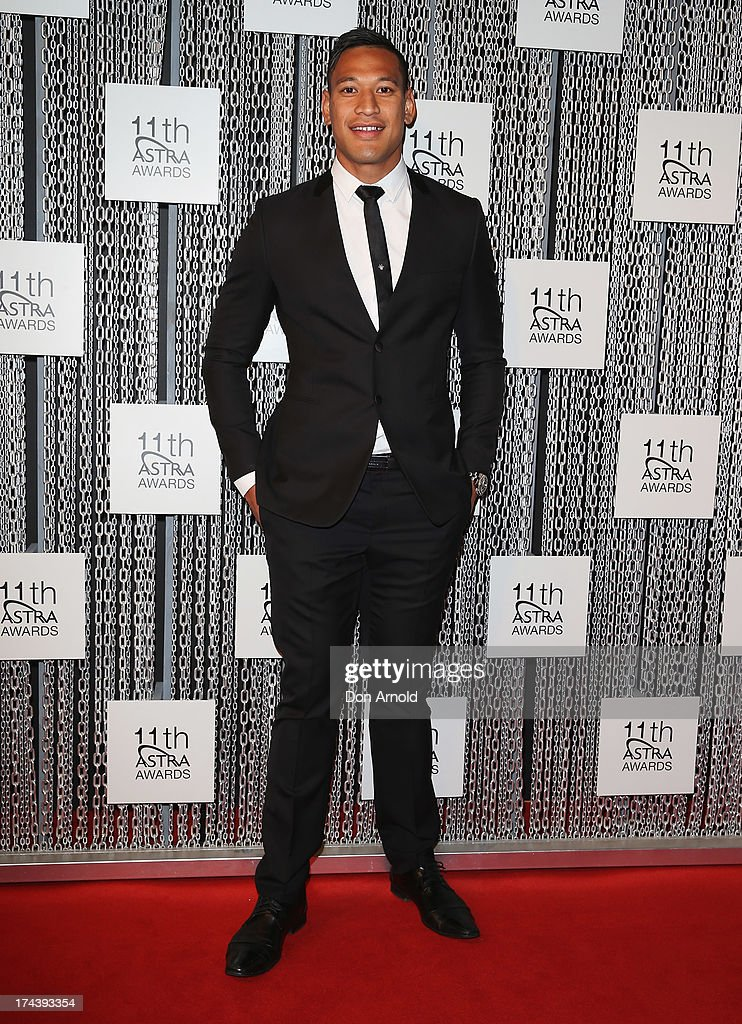 <a gi-track='captionPersonalityLinkClicked' href=/galleries/search?phrase=Israel+Folau&family=editorial&specificpeople=4194699 ng-click='$event.stopPropagation()'>Israel Folau</a> arrives at the 11th Annual ASTRA Awards at Sydney Theatre on July 25, 2013 in Sydney, Australia.
