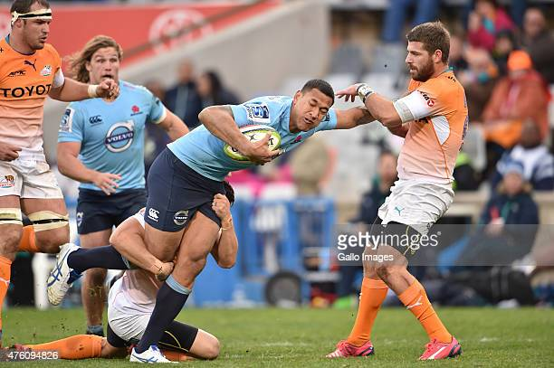 Israel Folau of the Waratahs during the Super Rugby match between Toyota Cheetahs and Waratahs at Free State Stadium on June 06 2015 in Bloemfontein...