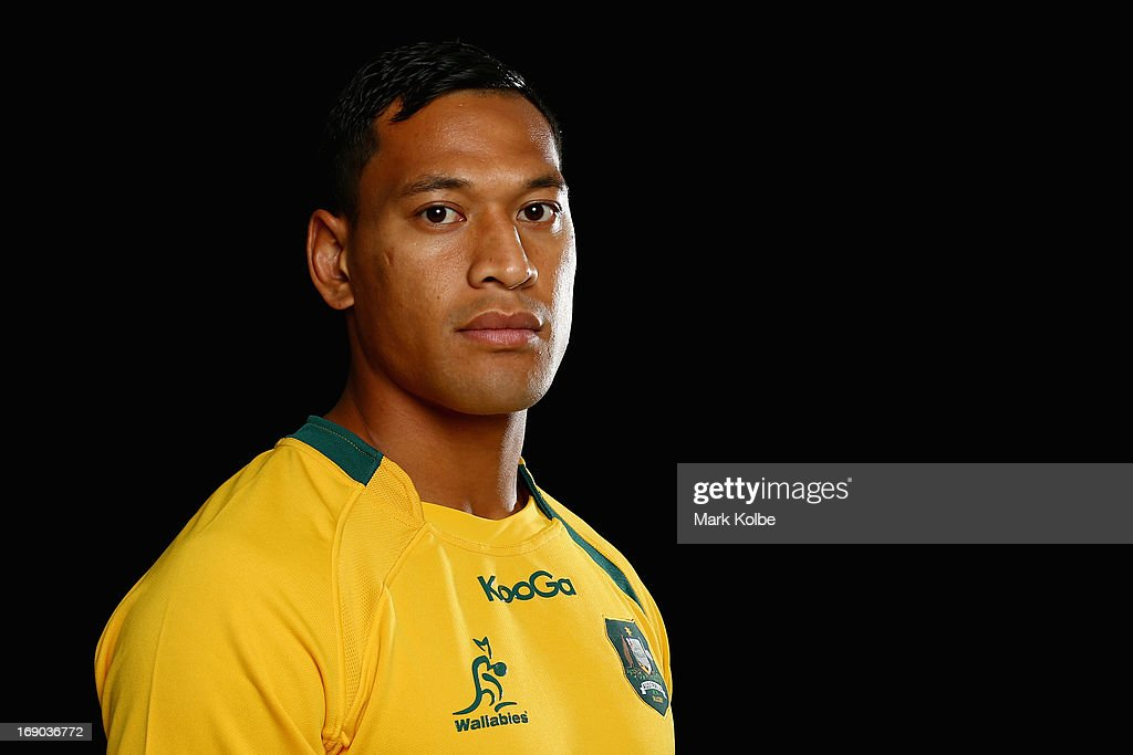 Israel Folau poses during an Australian Wallabies portrait shoot on April 12, 2013 in Sydney, Australia.