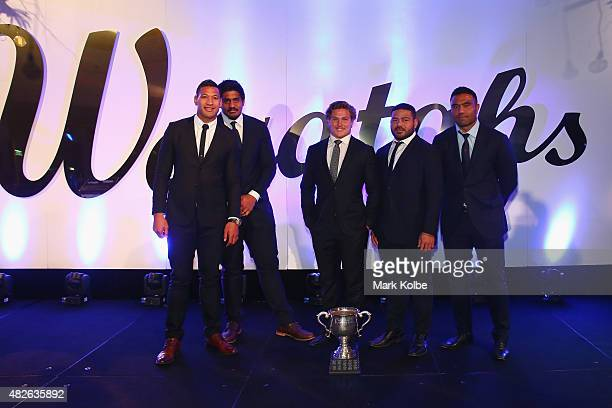 Israel Folau winner of the best back Will Skelton winner of the best forward Michael Hooper winner of the Matthew Burke Cup win for Players Player of...