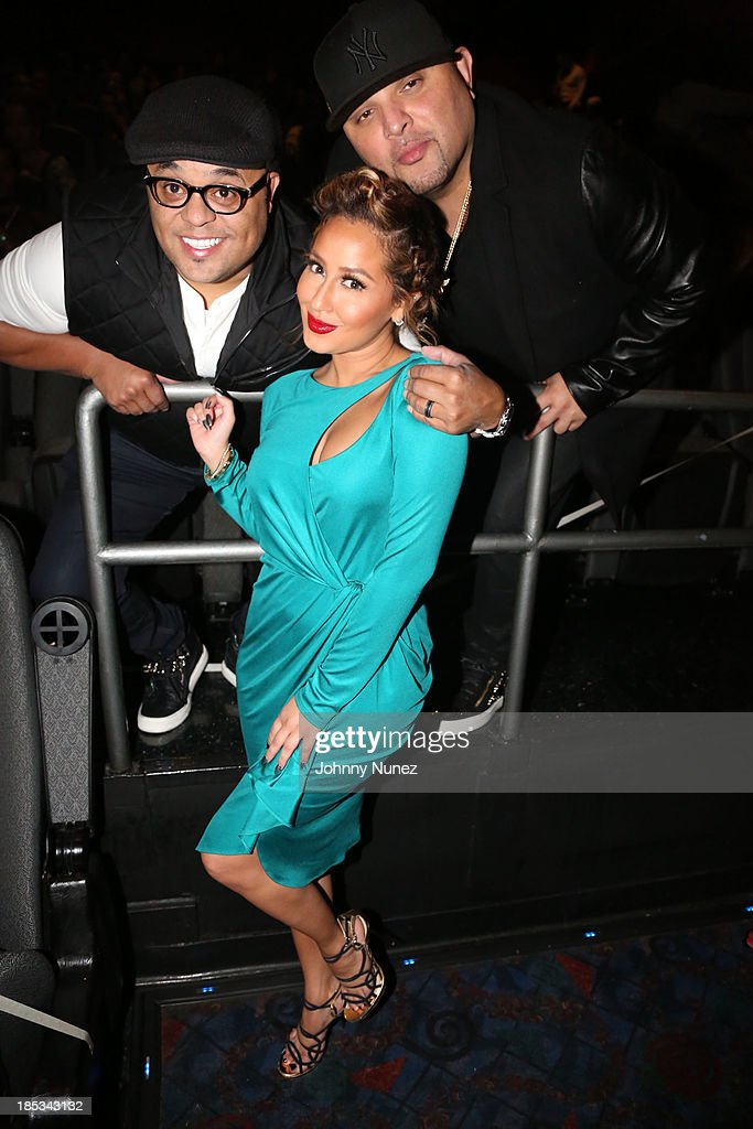 Israel Houghton, Adrienne Bailon and Galley Molina attend the 'I'm In Love With a Church Girl' screening at the Regal E-Walk Stadium 13 on October 18, 2013 in New York City.