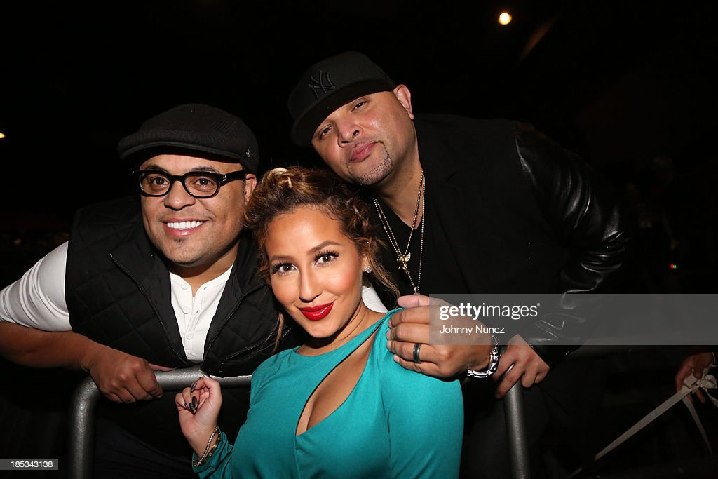 <a gi-track='captionPersonalityLinkClicked' href=/galleries/search?phrase=Israel+Houghton&family=editorial&specificpeople=2560002 ng-click='$event.stopPropagation()'>Israel Houghton</a>, <a gi-track='captionPersonalityLinkClicked' href=/galleries/search?phrase=Adrienne+Bailon&family=editorial&specificpeople=540286 ng-click='$event.stopPropagation()'>Adrienne Bailon</a> and Galley Molina attend the 'I'm In Love With a Church Girl' screening at the Regal E-Walk Stadium 13 on October 18, 2013 in New York City.