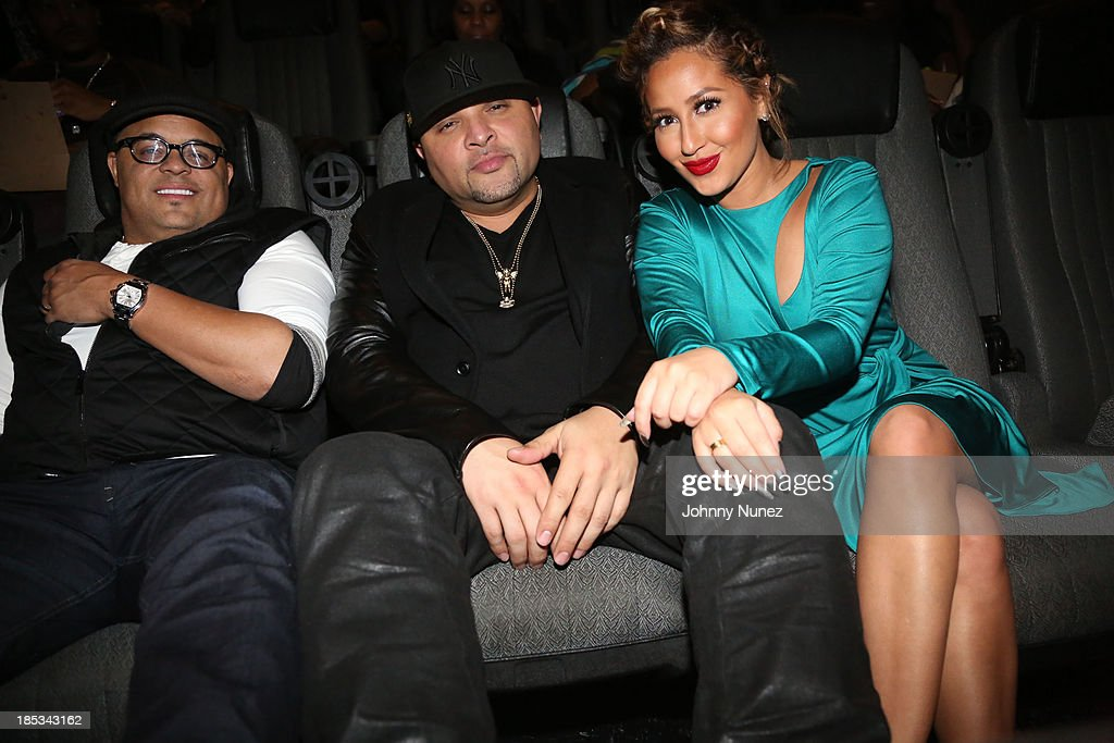 Israel Houghton, Galley Molina and Adrienne Bailon attend the 'I'm In Love With a Church Girl' screening at the Regal E-Walk Stadium 13 on October 18, 2013 in New York City.