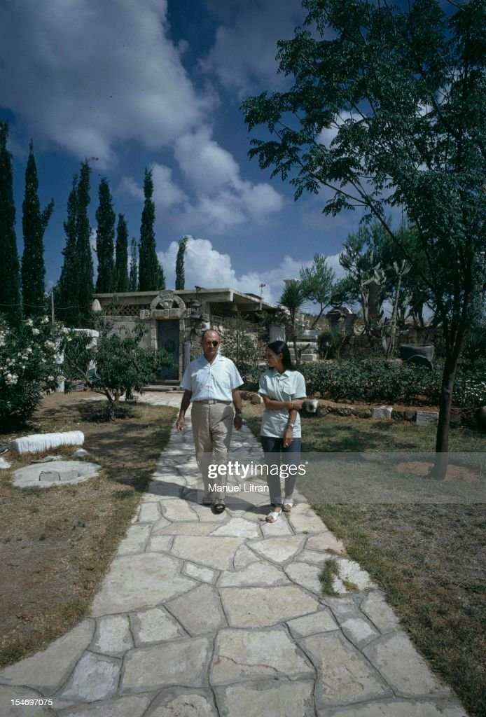 Israel, in July 1967, <a gi-track='captionPersonalityLinkClicked' href=/galleries/search?phrase=Moshe+Dayan&family=editorial&specificpeople=93808 ng-click='$event.stopPropagation()'>Moshe Dayan</a> was Zahala home in the suburbs of Tel Aviv, walking in his garden with his daughter Yael .