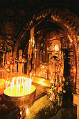 Israel, Jerusalem, Church of the Holy Sepulchre, Chapel of Calvary, Interiors of a church