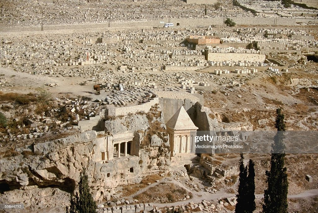 Israel, Jerusalem, Kidron Valley, Tomb Of Absalom : Stock Photo