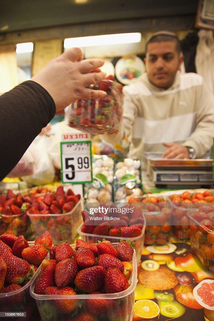 Israel, Jerusalem, New City, Mahane Yehuda Market : Stock Photo