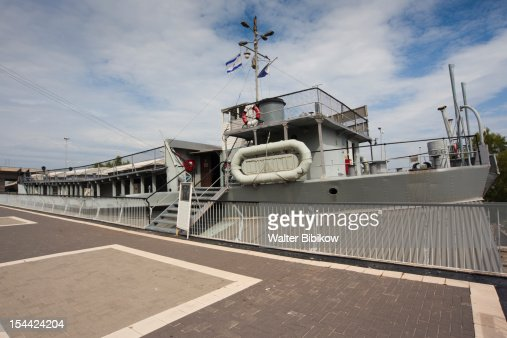 Israel, North Coast, Immigration & Naval Museum : Stock Photo