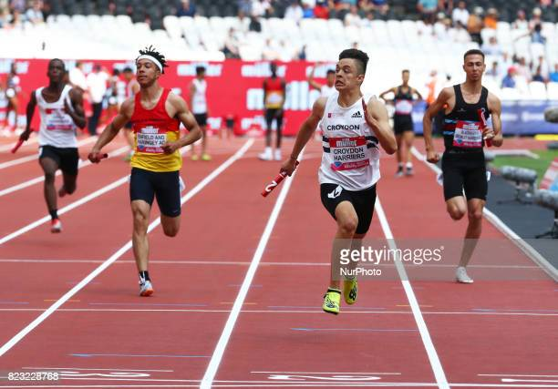 Israel Ospina of Croydon Haarriers during Muller Anniversary Games at London Stadium in London on July 09 2017