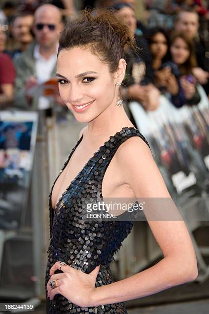 Israeli actress Gal Gadot arrives at the world premiere of 'Fast and Furious 6' at the Empire cinema in Leicester Square in central London on May 7...