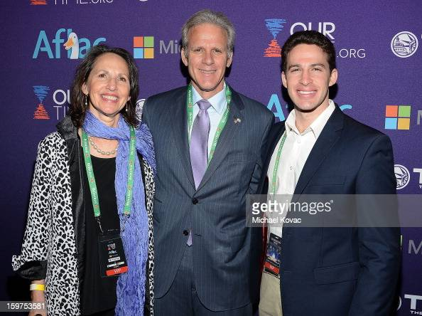 Israeli ambassador to the United States Michael Oren with wife Sally Oren and son Yoav Oren attend the Inaugural Youth Ball hosted by OurTimeorg at...