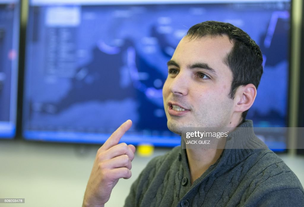 Israeli Ami Daniel, CEO and co-founder of the Windward company speaks as he poses at the company's offices on February 9, 2016 in the Israeli city of Tel Aviv. At a time of deep concern over migrant smuggling, Daniel, a former member of the Israeli navy, says his company Windward has the ability to pick up such suspicious maritime behaviour that would otherwise go unnoticed. / AFP / JACK GUEZ