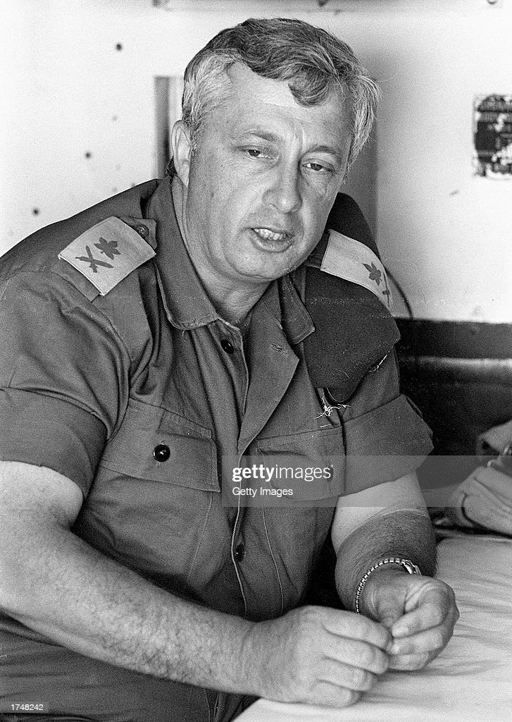 Israeli Army Major Gen Ariel Sharon is photographed just days before the Six Day War May 29 1967 in Israel Prime Minister Sharon is heavily favored...