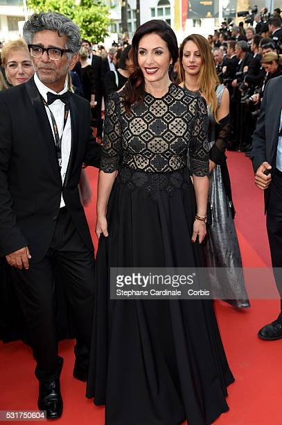 Israeli Culture and Sports minister Miri Regev and guest attend the 'Loving' premiere during the 69th annual Cannes Film Festival at the Palais des...