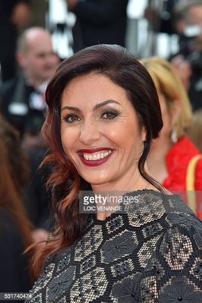 Israeli Culture and Sports minister Miri Regev arrives on May 15 2016 for the screening of the film 'Beyond the Mountains and Hills ' at the 69th...