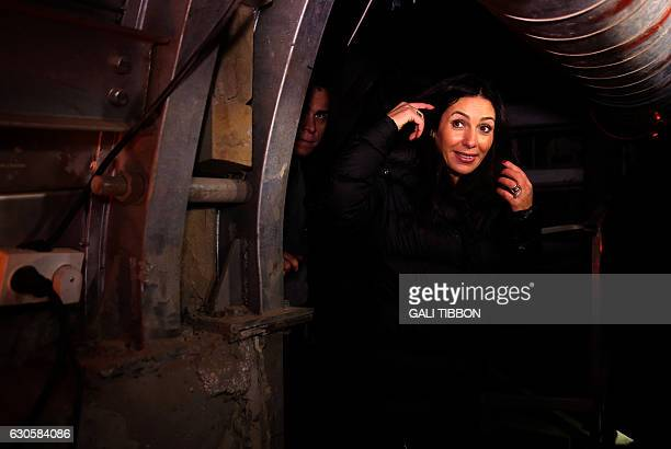 Israeli Culture and Sports Minister Miri Regev visits the 'Pilgrims Way' a 2000yearold route which is currently being excavated by the Israel...