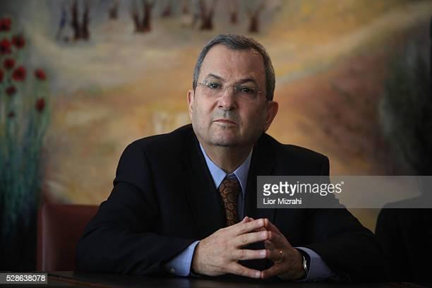 Israeli Defence Minister Ehud Barak is seen in the Knesset Israeli Parliament on January 17 2011 in Jerusalem Israel