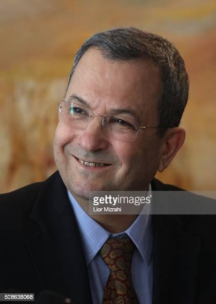Israeli Defence Minister Ehud Barak smiles in the Knesset Israeli Parliament on January 17 2011 in Jerusalem Israel