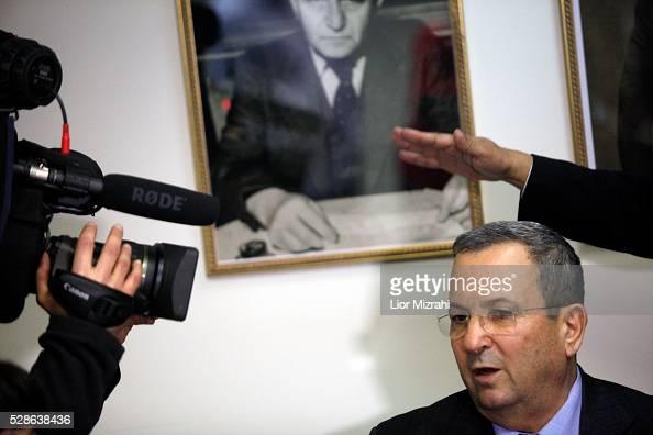 Israeli Defence Minister Ehud Barak speaks during a meeting on February 20 2012 in Jerusalem Israel