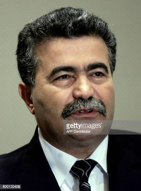 Israeli Defense Minister Amir Peretz speaks to the media after meeting with US Secretary of State Condoleezza Rice in Jerusalem 05 October 2006 Rice...