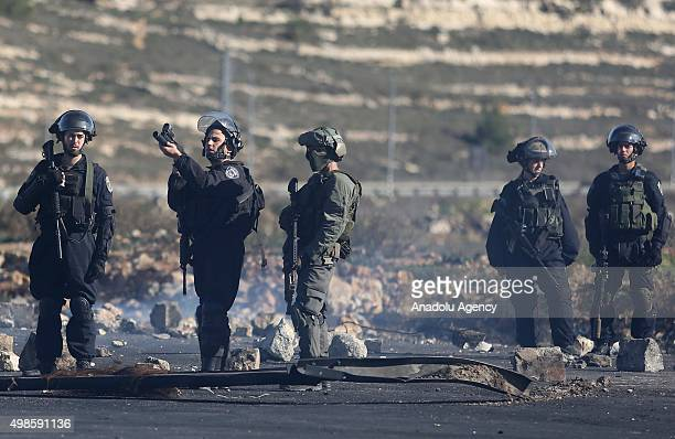 Israeli forces attack Palestinian protesters during a demonstration against Israeli Government's violations over Palestinians and AlAqsa Mosque...